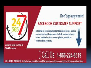 Have the trouble-free Facebook Customer Support @ toll-free 1-866-224-8319