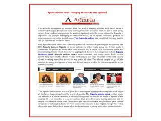 Latest Nigeria,Africa Politics,business,Anti Corruption,Entertainment on Agenda Online