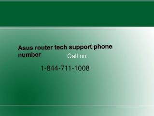 Asus router tech support phone number