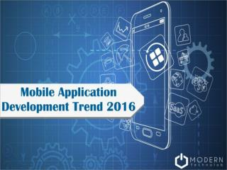 Mobile Application Development Trend 2016