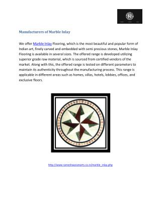 Manufacturues of Marble Inlay