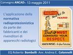 Convegno ANCAD   13 maggio 2011