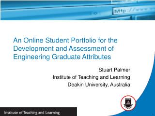 An Online Student Portfolio for the Development and Assessment of Engineering Graduate Attributes