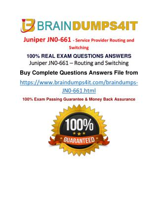 JN0-661 Real Exam Dumps