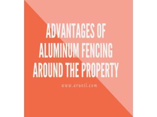 Advantages of galvanized chain link fence around the property.