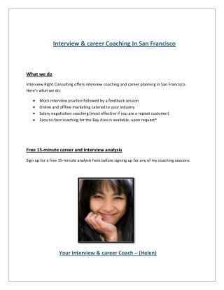 Interview,career Coach San Francisco