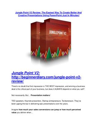 Jungle Point V2 review - 65% Discount and FREE $14300 BONUS