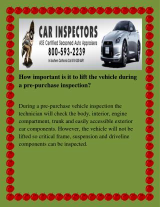 car inspection Los Angeles