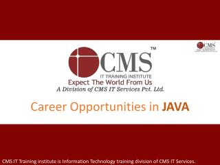 Career Opportunities in JAVA