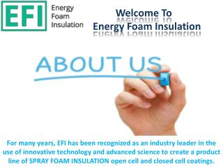 Energy Foam Insulation