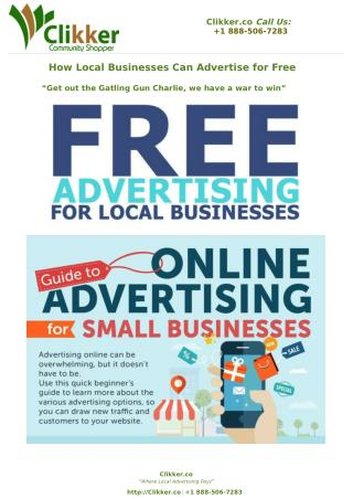 How Local Businesses Can Advertise for Free