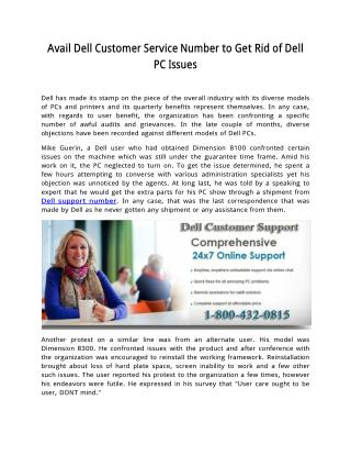 How to Get Dell Technical Support | Call Now 800-432-0815 | dellsupportnumber.com