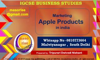 nishant sir's igcse business studies marketing mix apple products in india meso rise academy