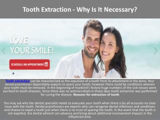 Tooth Extraction - Why Is It Necessary?