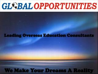 Overseas Education Consultants in India Global Opportunities Leading Study Abroad Consultants