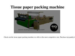 Towel paper roll machine