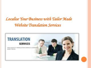 Localise Your Business with Tailor Made Website Translation Services