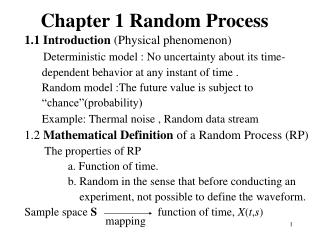 Chapter 1 Random Process