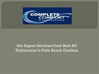 Get Expert Services from Best AC Technicians in Palm Beach Gardens