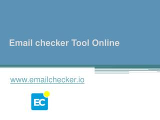 Email checker Tool Online - www.emailchecker.io