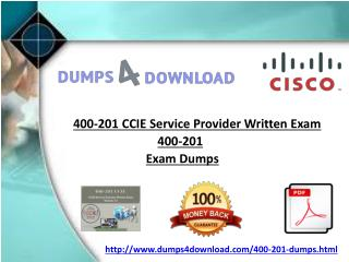 Dumps4download 400-201 Cisco Exam Questions