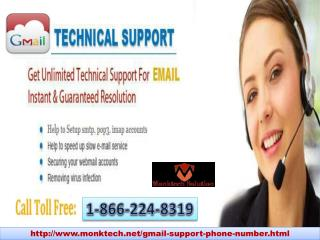Use Gmail Technical Support 1-866-224-8319 (toll-free) Number