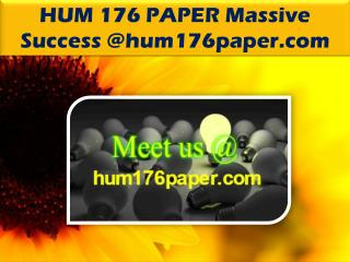 HUM 176 PAPER Massive Success @hum176paper.com