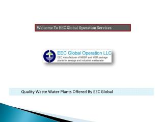 Containerized Wastewater Plants