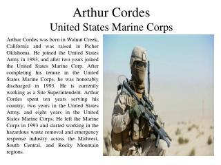 Arthur Cordes - United States Marine Corps