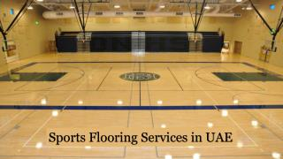 UAE Sports Flooring Services | Sports Flooring Experts UAE