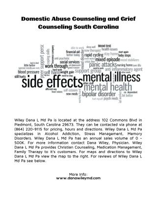 Top Psychiatric Services in Anderson SC