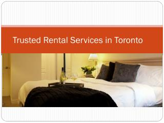 Trusted Rental Services in Toronto