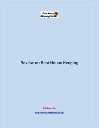 Review on Best House Keeping
