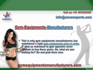 Find Best Gym Equipments Price in India with Gymequipmentsmanufacturers