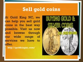 Sell gold coins