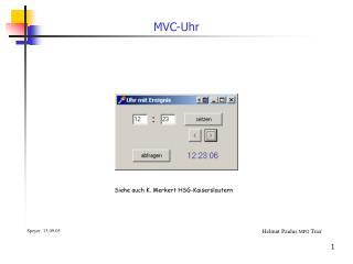 MVC-Uhr