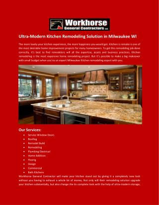 Ultra-Modern Kitchen Remodeling Solution in Milwaukee WI