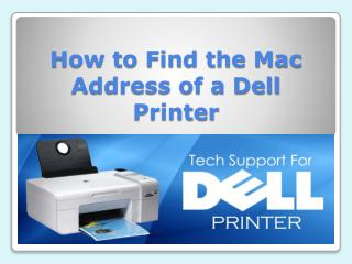 How to Find the Mac Address of a Dell Printer