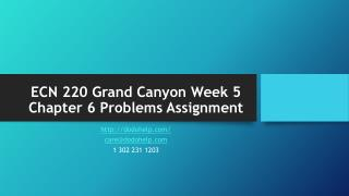 ECN 220 Grand Canyon Week 5 Chapter 6 Problems Assignment