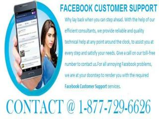 Your search for the best ends at Facebook Customer Support 1-877-729-6626