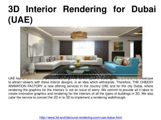 3D Interior Rendering for Dubai (UAE)
