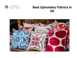 Best Upholstery Fabrics in UK