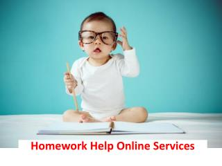 Homework Help Online Services