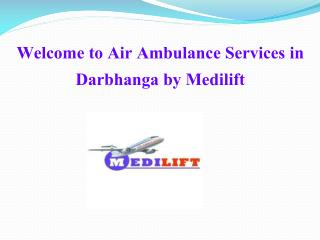 Presentation for air ambulance services in Darbhanga and Gaya