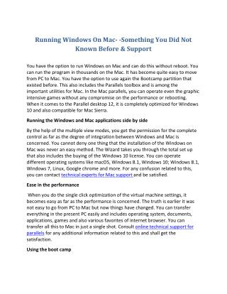 Running Windows On Mac- -Something You Did Not Known Before & Support