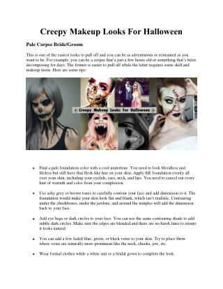 Creepy Makeup Looks For Halloween