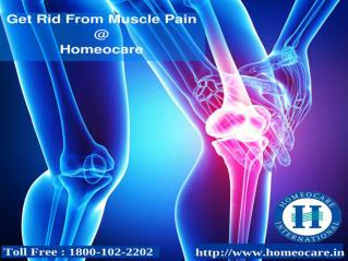 Muscle Pain Treatment at Homeocare