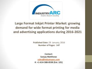 Large Format Inkjet Printer Market: rise in sales of plotter print machines during 2016-2021