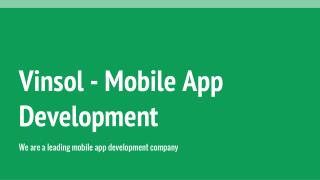 Vinsol - Mobile App Development