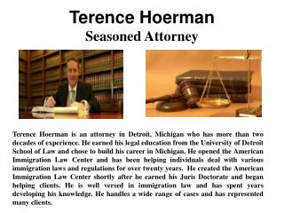 Terence Hoerman - Seasoned Attorney